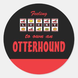 Lucky to Own an Otterhound Fun Dog Design Round Sticker