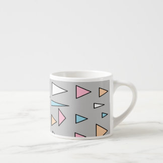 Lucky Triangles Pastel Colors Espresso Mug