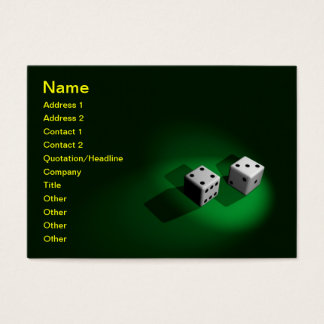 Lucky White Dice Business Card
