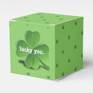 """""""Lucky You"""" Shamrock St. Patrick's Day Favor Box"""
