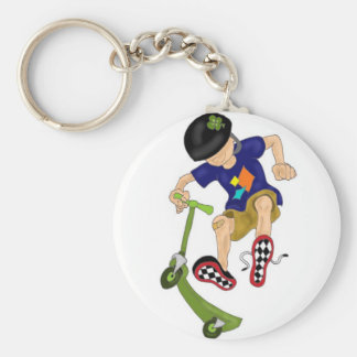 Lucky's Scooter Co. Basic Round Button Keychain