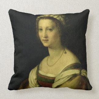 Lucrezia di Baccio del Fede, the Artist's Wife, c. Throw Pillows