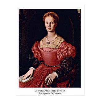 Lucrezia Panciatichi Portrait By Angelo Bronzino Postcard