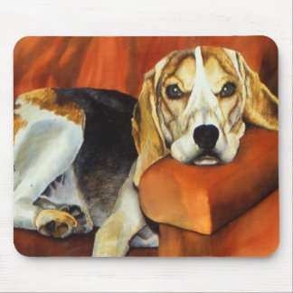 Lucy Beagle Mouse Pad