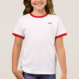 Lucy  Girl's Ringer T-Shirt
