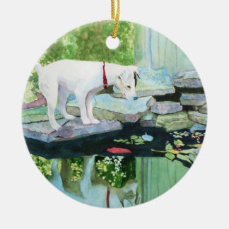 Lucy the Jack Russell Terrier Ceramic Ornament