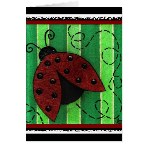 Lucy the Ladybug - greeting card / party invite