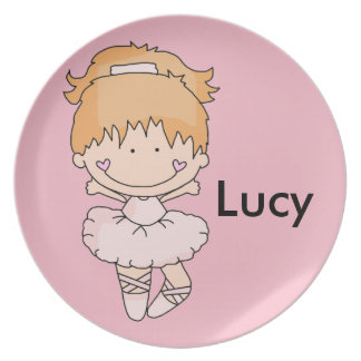 Lucy's Personalized Ballet Plate