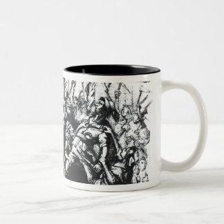 Luddite Rioters Two-Tone Coffee Mug