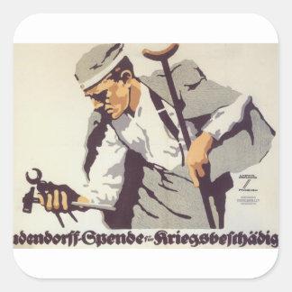 Ludendorff Propaganda Poster Square Sticker