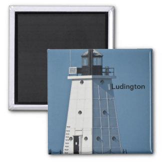 Ludington Breakwater Light Magnet