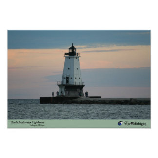Ludington Lighthouse at Dusk Posters