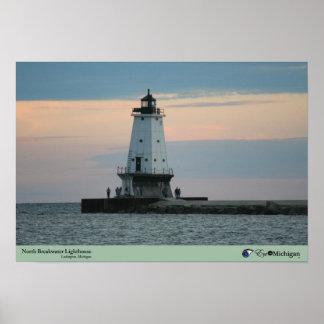 Ludington Lighthouse at Dusk Posters