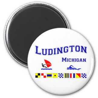 Ludington MI Signal Flags Magnet