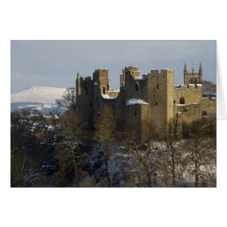 Ludlow Castle with Clee Hill Behind. Card