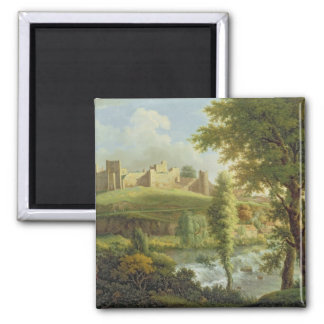 Ludlow Castle with Dinham Weir, from the South-Wes Square Magnet