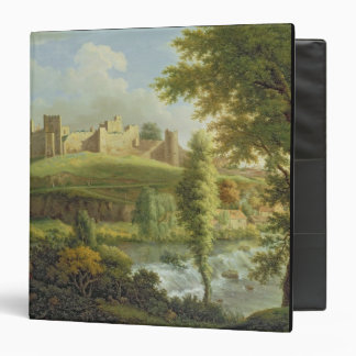 Ludlow Castle with Dinham Weir, from the South-Wes Vinyl Binder