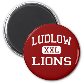 Ludlow - Lions - Senior - Ludlow Massachusetts 2 Inch Round Magnet
