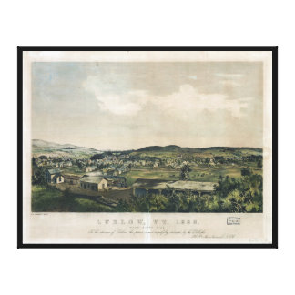 Ludlow Vermont From South Hill (1859) Canvas Print