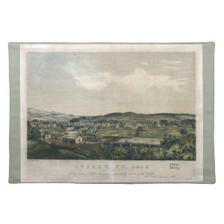 Ludlow Vermont From South Hill (1859) Placemats