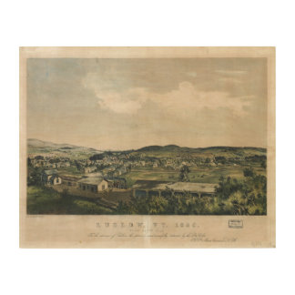 Ludlow Vermont From South Hill (1859) Wood Canvas