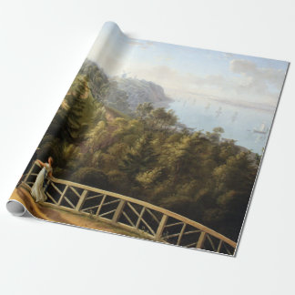 Ludwig Philipp Strack View from Baurs Hamburg Wrapping Paper
