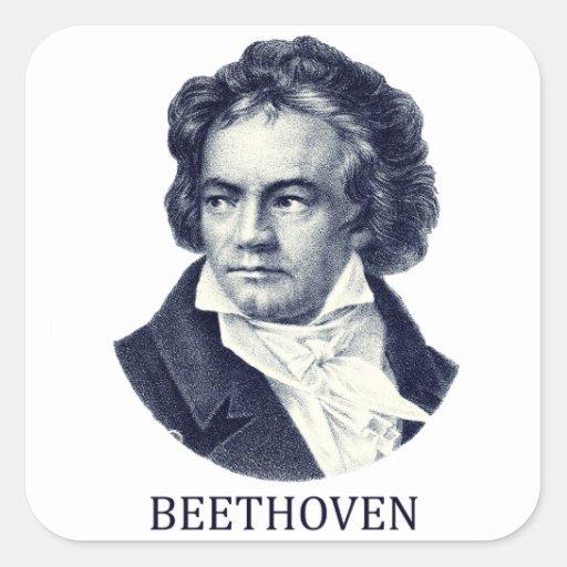 Ludwig van Beethoven, blue Stickers