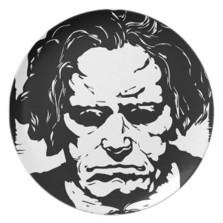Ludwig van Beethoven - famous German composer Party Plate
