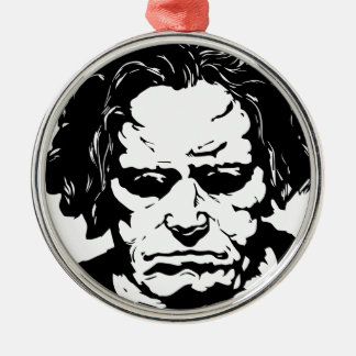 Ludwig van Beethoven - famous German composer Silver-Colored Round Ornament