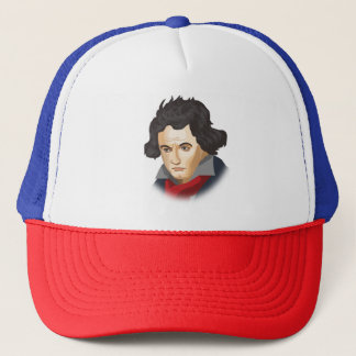 Ludwig van Beethoven in the Cartoon style Trucker Hat