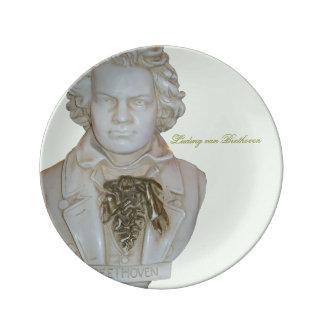 Ludwig van Beethoven Plate Porcelain Plates