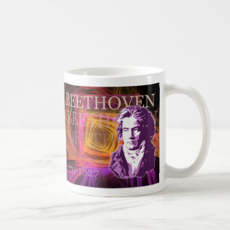Ludwig van Beethoven Pop Art Portait Coffee Mug