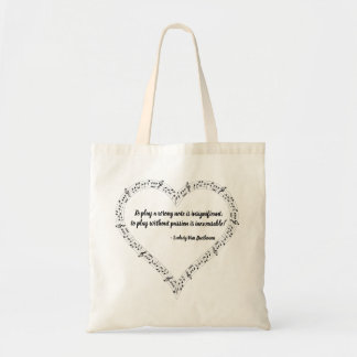 Ludwig Van Beethoven Quote Tote