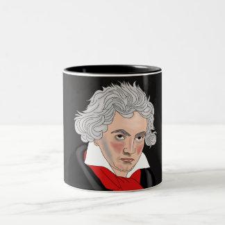 Ludwig van Beethoven Two-Tone Coffee Mug