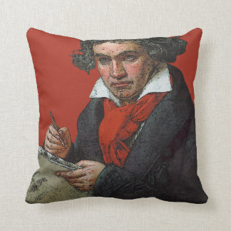 Ludwig von Beethoven Throw Pillow