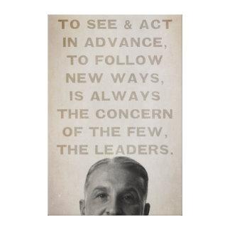 Ludwig von Mises Leaders Canvas Print