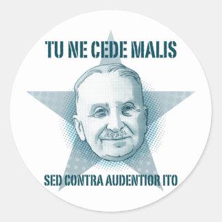 Ludwig von Mises  - Tu Ne Cede Malis Sticker