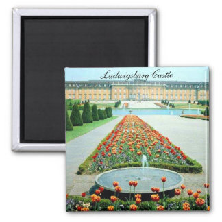 Ludwigsburg Castle Germany Square Magnet