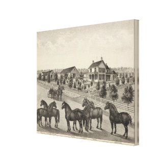 Luellen and Fox, Residence of John Fox, Kansas Stretched Canvas Print