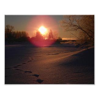Lueur de lever de soleil photographe