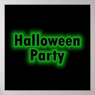 Lueur de vert de partie de Halloween