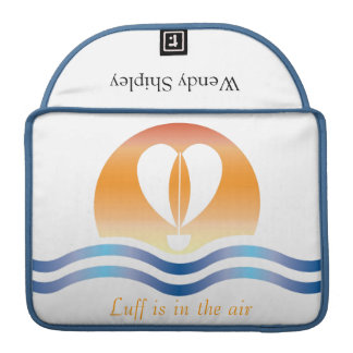 Luffers Sunset_Luff is in the air  personalized Sleeves For MacBook Pro
