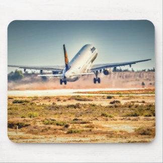 Lufthansa takeoff mouse pad