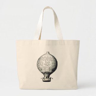 Luftschiff_Montgolfier Large Tote Bag