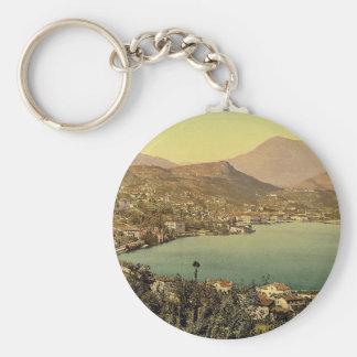 Lugano, from San Salvatore, Tessin, Switzerland vi Keychain