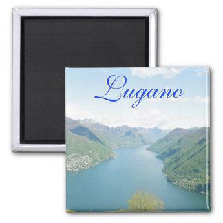 Lugano, Switzerland Square Magnet