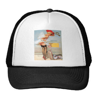 Luggage accident pinup girl trucker hat