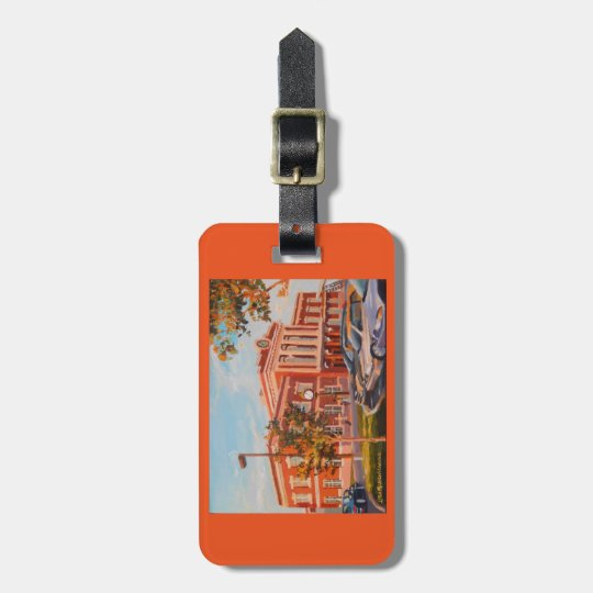 Luggage and purse tag with Lancaster Train Station
