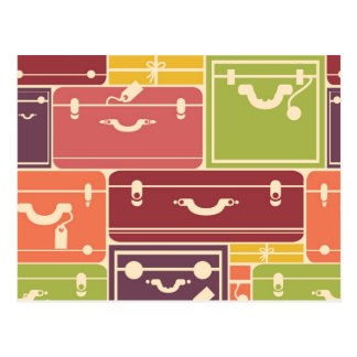 Luggage bags pattern postcard