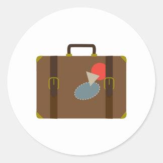 Luggage Case Round Stickers
